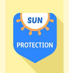 Sun protection logo flat style vector