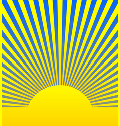 sunrise sunshine background vector image