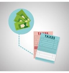 Taxes design finance icon Taxation concept vector image