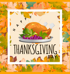 Thanksgiving day calligraphy cardautumn vector