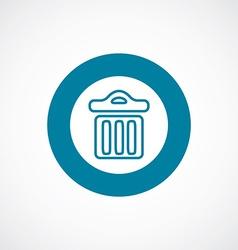 Trash bin icon bold blue circle border vector