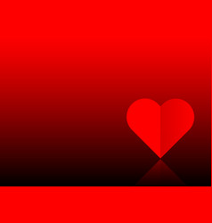 valentines day red banner one red paper cut heart vector image