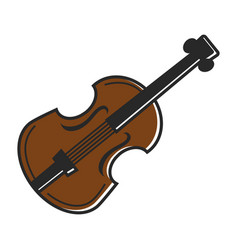 Violin fiddle musical instrument traditional vector