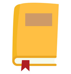yellow book on white background vector image