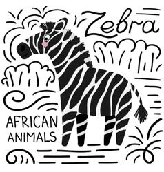 Zebra african animals background vector