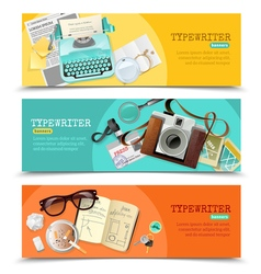Journalist Vintage Typewriter Banners vector image vector image