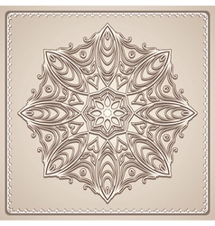 Old lace doily vector image