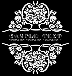 ornate rose vector image vector image
