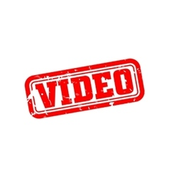 Video rubber stamp vector image