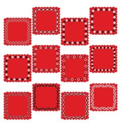 bandana square labels vector image