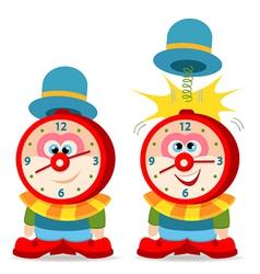 clown alarm clock vector image vector image