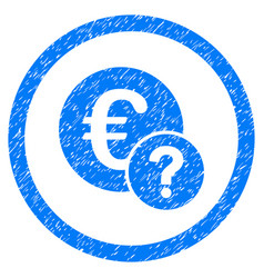 euro status rounded grainy icon vector image vector image