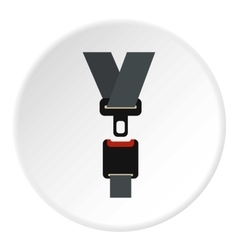 Seat belt icon flat style vector image vector image