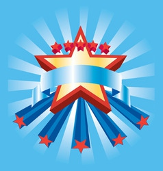 star bannery vector image vector image