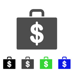 Accounting case flat icon vector