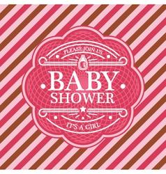 Baby shower emblem vector