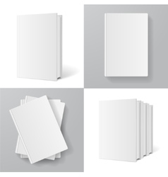 Books Templates Set vector image vector image