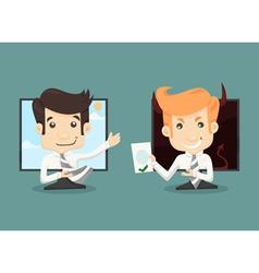 Businessman internet working concept wireless comm vector image vector image