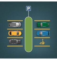 City parking image vector image