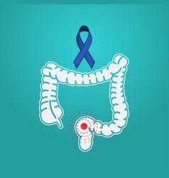 colon cancer logo icon vector image vector image