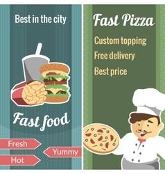 Fast food vertical banner set vector image vector image