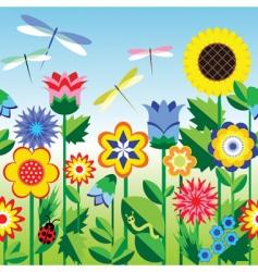 flower strip vector image vector image