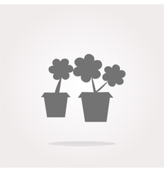 Flowerpot with plant - web icon isolated vector image vector image