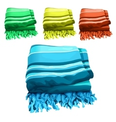 Green yellow red and blue towel vector image