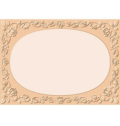 peach-colored background vector image vector image