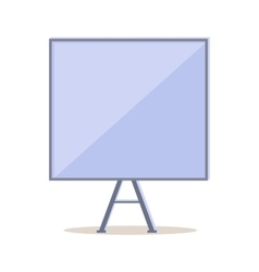 Tripod Whiteboard with Blank Board Screen vector image