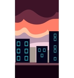 Vertical Landscape Flat City at vector image vector image