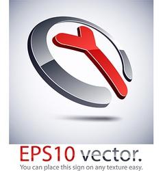 3d modern y logo icon vector