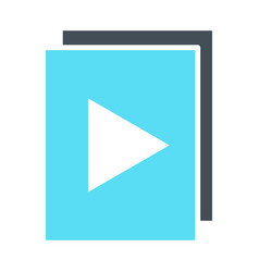 audio or video files with play button icon vector image