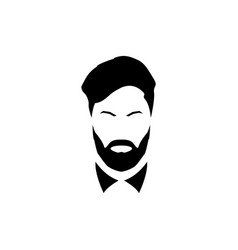 avatar of a gentleman with a beard and mustache vector image vector image
