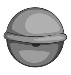Bloodshot eyeball icon monochrome vector