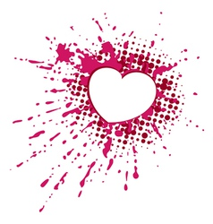Heart on blob vector image vector image