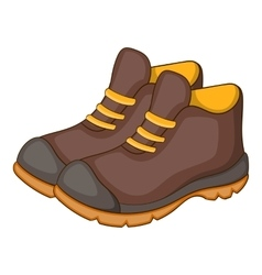 Hiking boots icon cartoon style vector image vector image