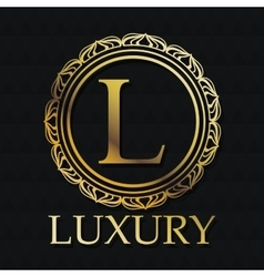 Luxury gold emblem design vector