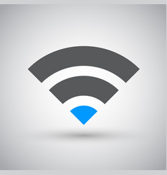 wifi network internet zone icon vector image