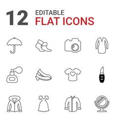 12 fashion icons vector