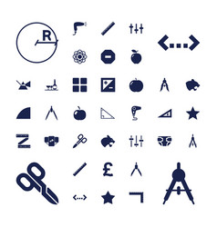 37 geometric icons vector