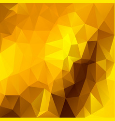 Abstract irregular polygon background yellow gold vector
