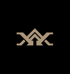 Abstract monogram letter wa aw logo icon design vector