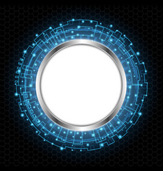 abstract technology digital circle vector image