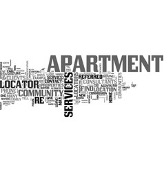 Apartment for rent text word cloud concept vector