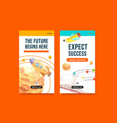 back to school and education concept vector image