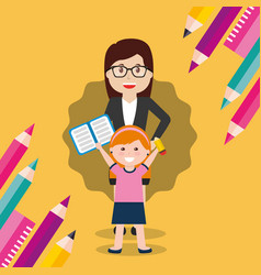 Back to school people vector