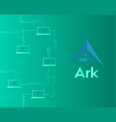 Background of ark cryptocurrency technology vector