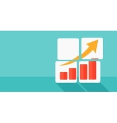 Background of growing graph vector image