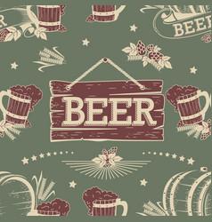 Beer seamless pattern vector